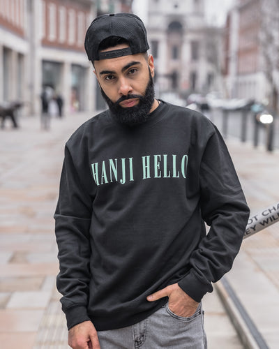 Hanji Hello - Genius - Black Sweatshirt