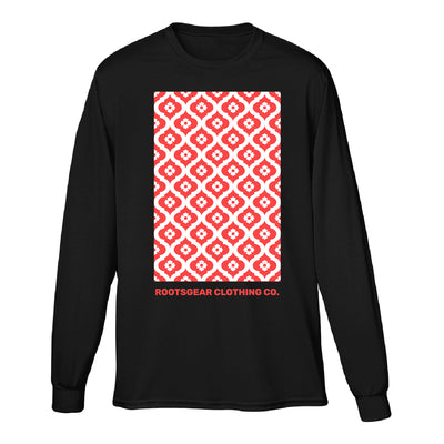 Rootsgear - Marble Maze - Black Long Sleeve Tee