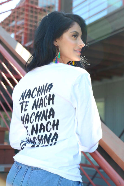 Toor Merch - Nachna Te Nach - White Long Sleeve