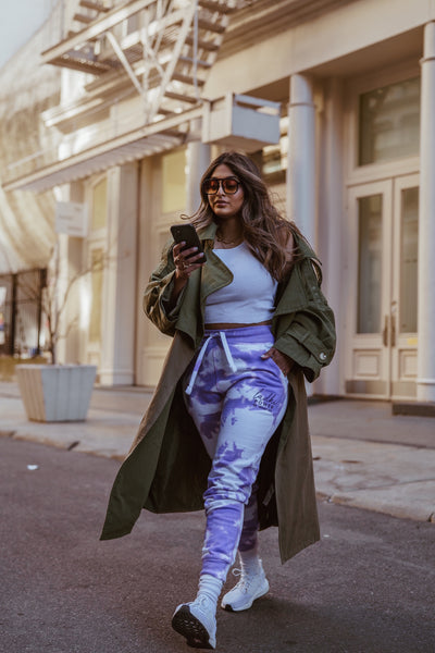 Brown Girl x Denimrush - Purple Sweat Pant