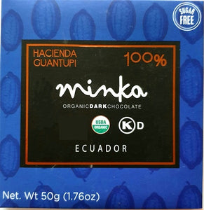MINKA tablette de 100% cacao grand cru 50g