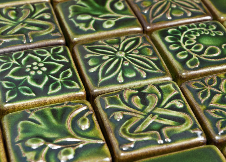 Image of relief tile in Emerald