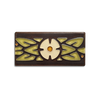 3x6 Laurel Border with Flower, Olive