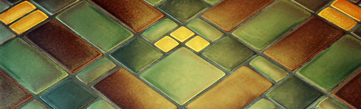 Field tile sizes shapes and edge glazing motawi tileworks for Arts and crafts floor tile