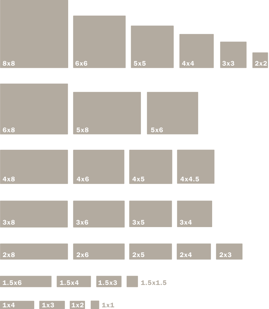 Field Tile Sizes, Shapes and Edge Glazing | Motawi Tileworks