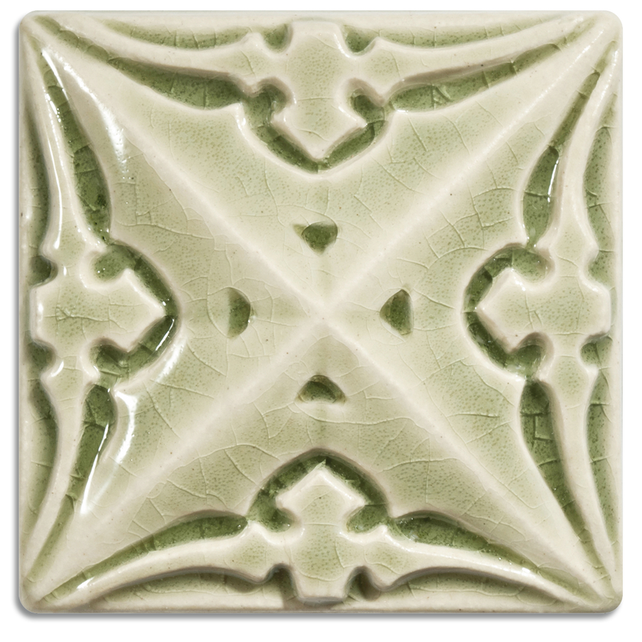 2010 | Celadon, Glossy on 4x4 Sullivan Relief Tile