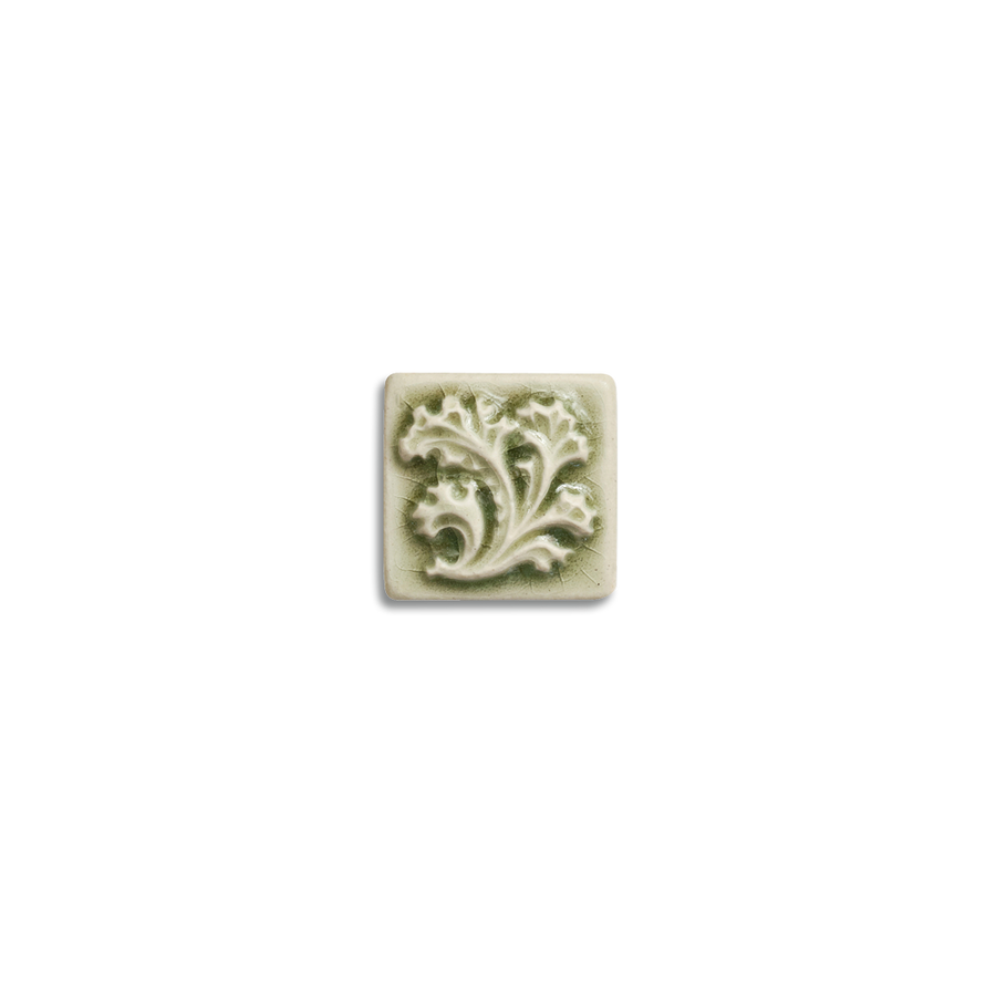 2x2 Ashland Corner Block is available in any of our standard glazes. Shown here in 2010 Celadon.