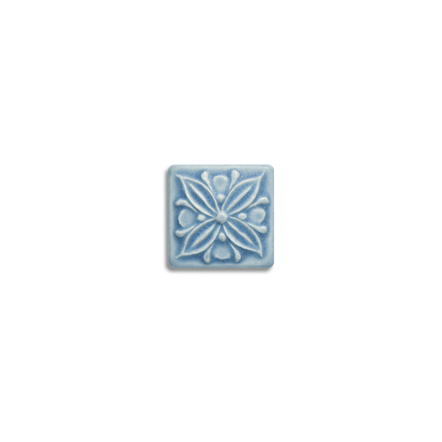 2x2 Fleur is available in any of our standard glazes. Shown here in 5061 Pale Blue.