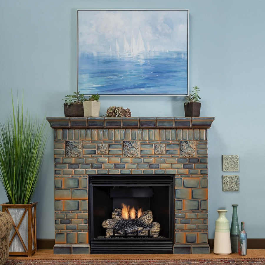 Ginkgo Moonstone Fireplace