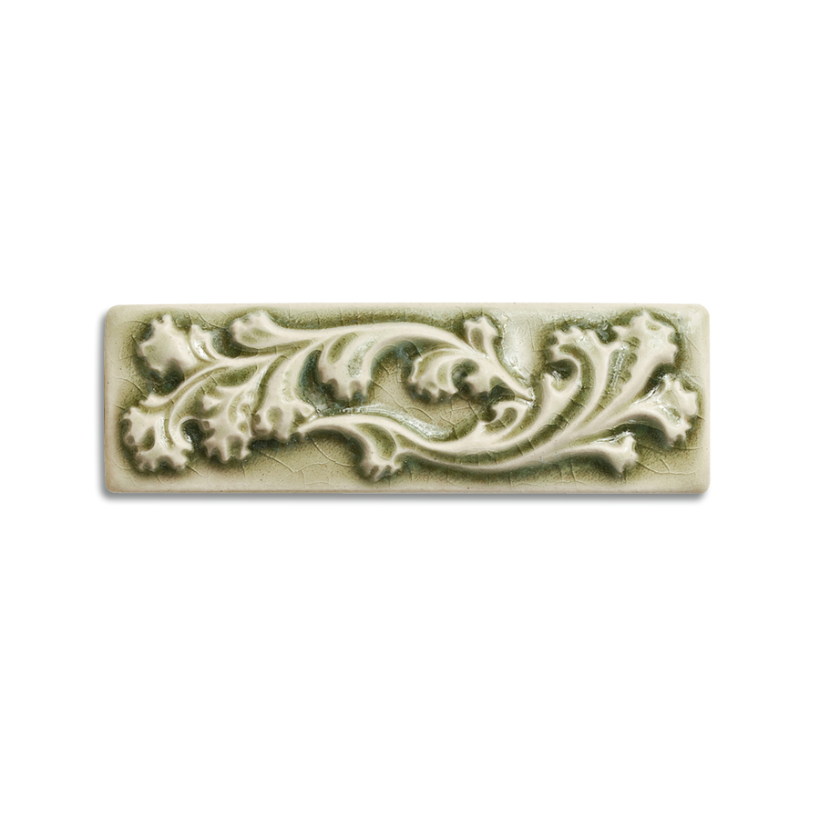 2x6 Ashland Border is available in any of our standard glazes. Shown here in 2010 Celadon.