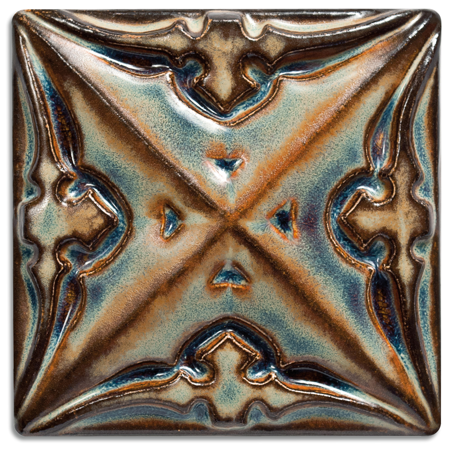 2902 | Moonstone, Glossy on 4x4 Sullivan Relief Tile