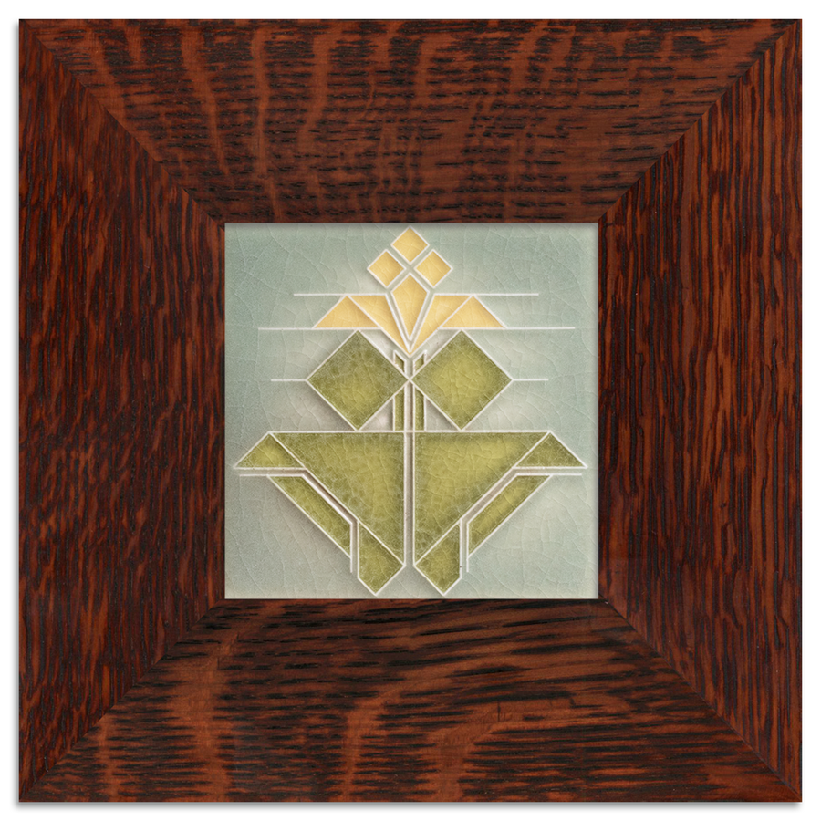 Tile in 2-inch Oak Park Frame - Oak