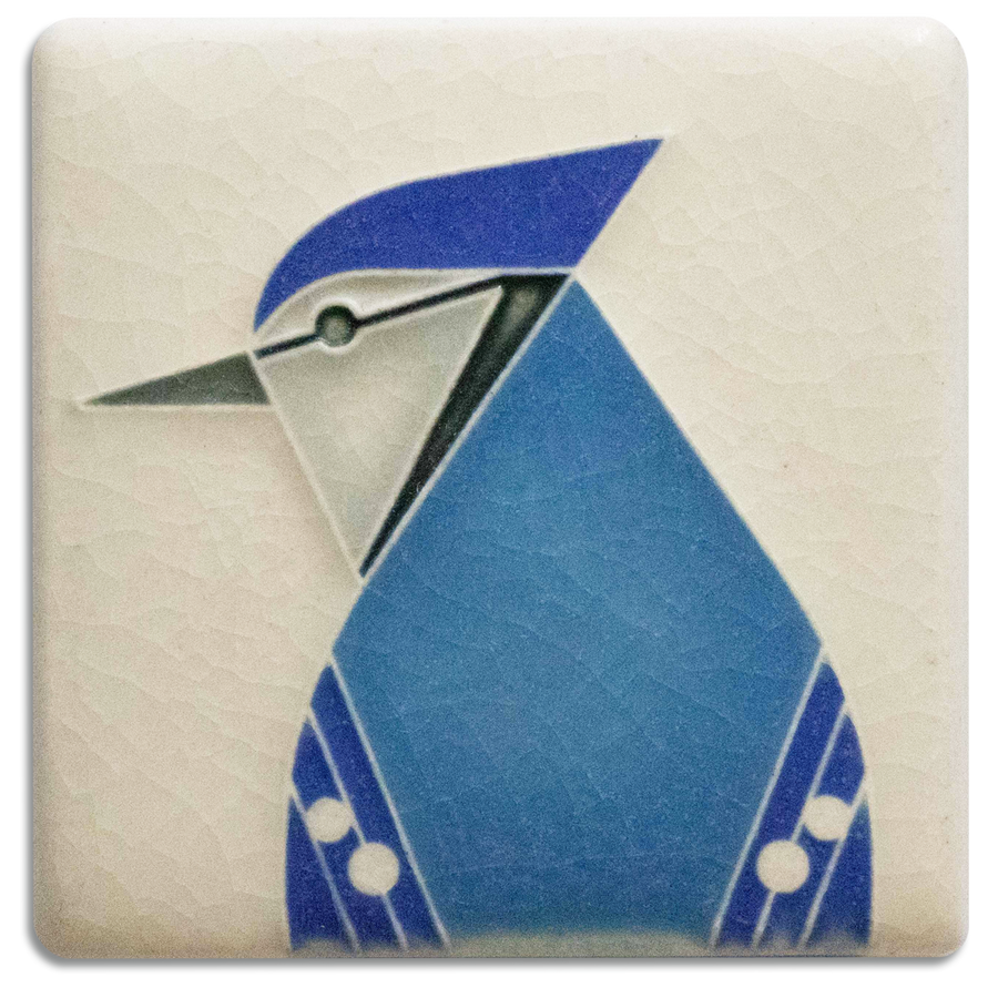3x3 Blue Jay - Cream
