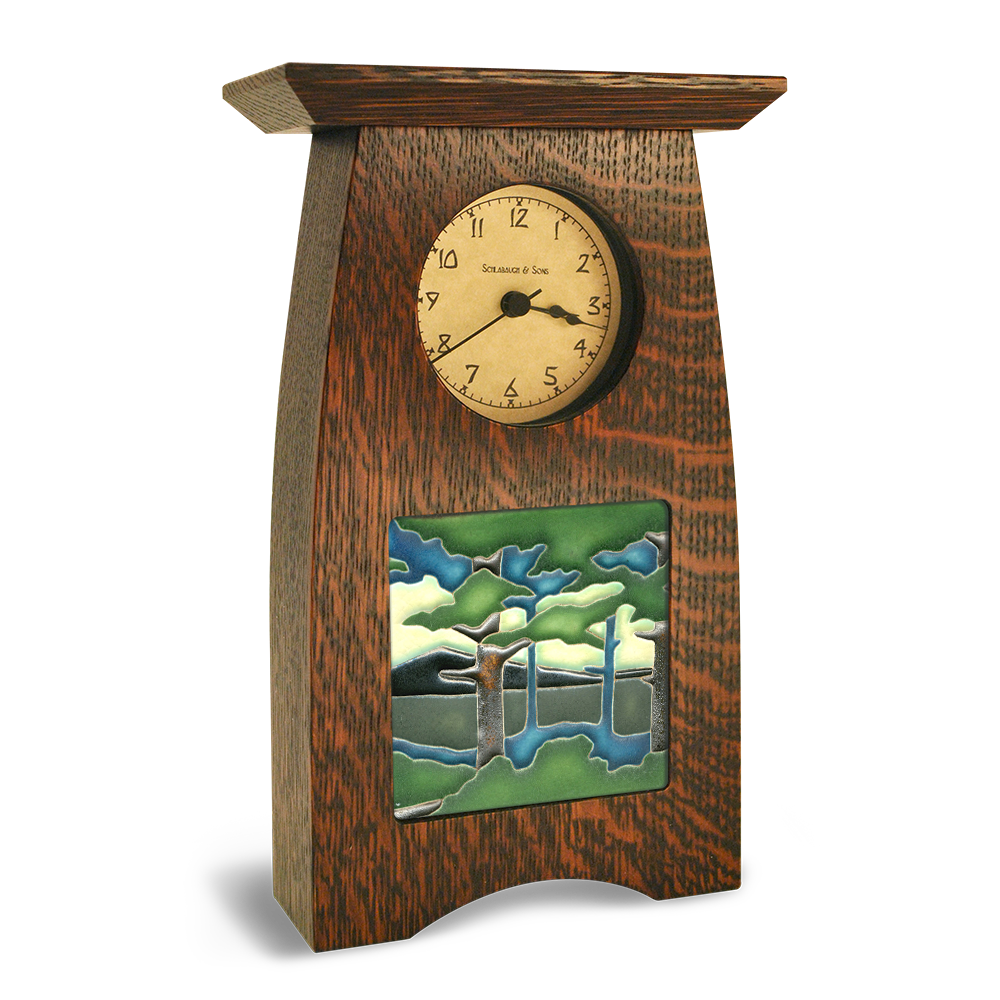 4x4 arts and crafts clock motawi tileworks motawi for Small clocks for crafts