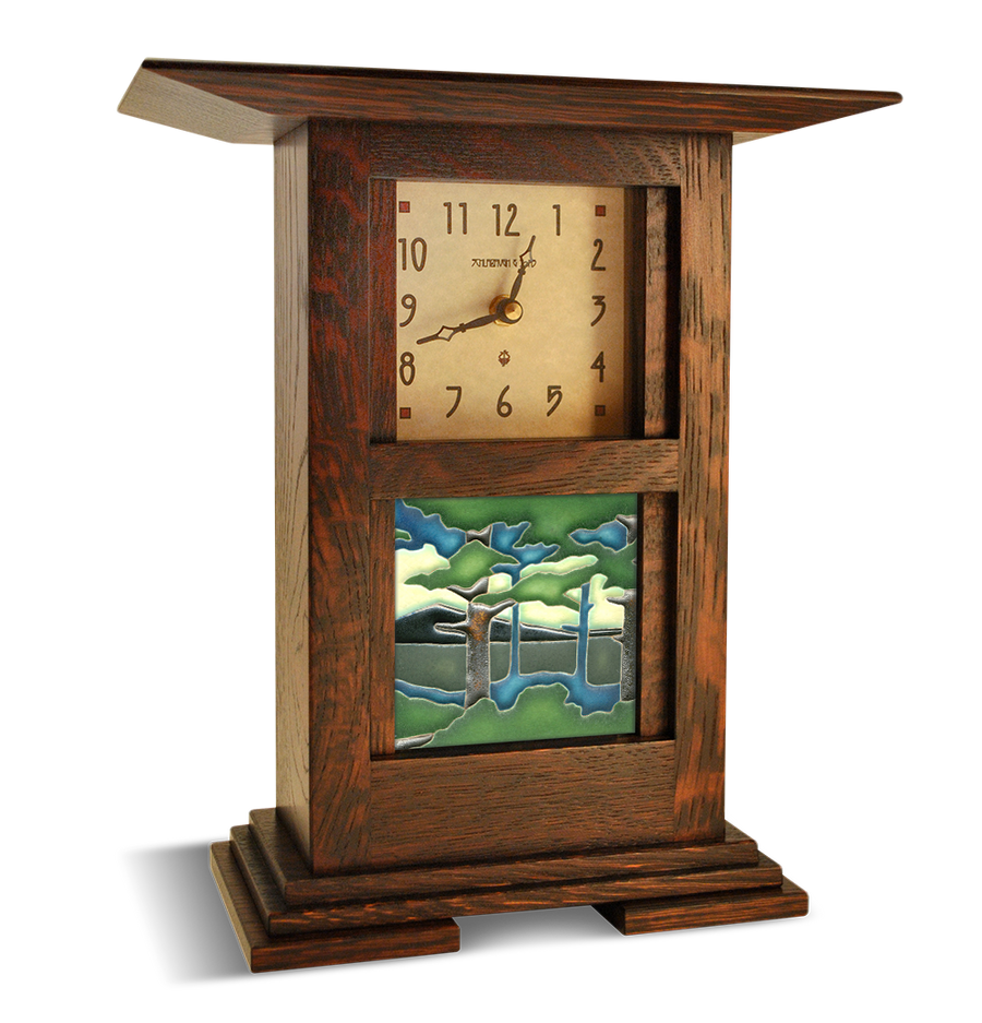 Example Prairie Clock shown with tile (tile sold separately)
