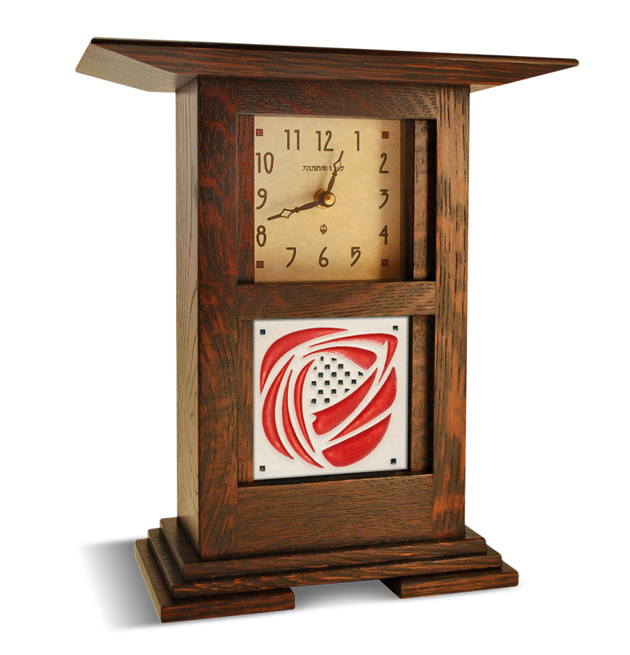 Tile in Prairie Clock