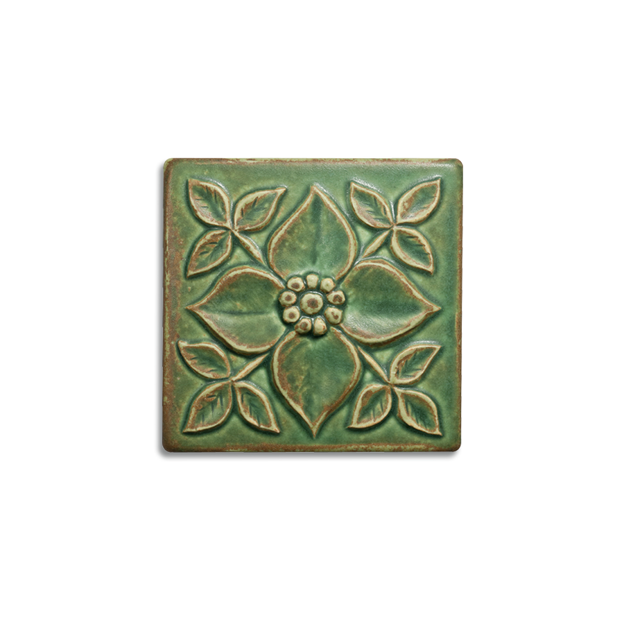 4x4 Pansy is available in any of our standard glazes. Shown here in 5046 Lime.