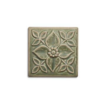 4x4 Pansy is available in any of our standard glazes. Shown here in 5200 Lichen.