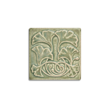 4x4 Gingko is available in any of our standard glazes. Shown here in 5200 Lichen.