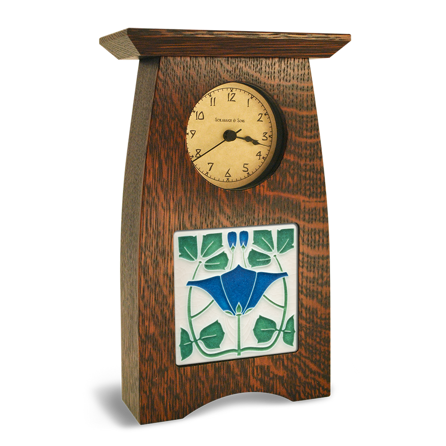 Tile in Arts and Crafts Clock