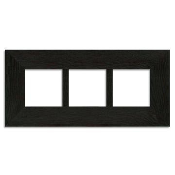4x4 Ebony Triple 2-inch Oak Park Frame hung horizontally.