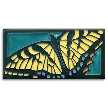 4x8 Swallowtail Butterfly - Turquoise