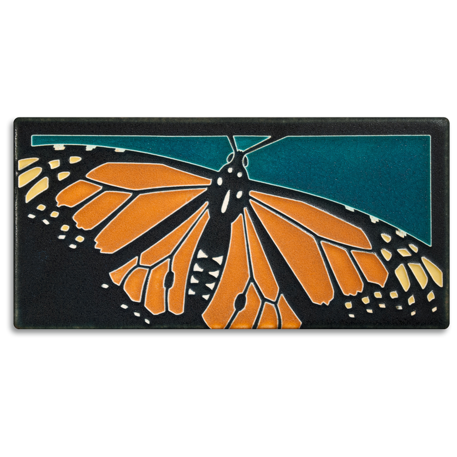 4x8 Monarch Butterfly - Turquoise