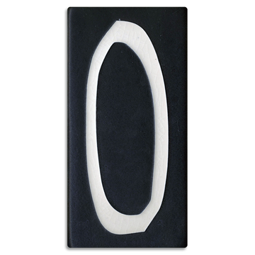 4x8 House Number (Black) - 0