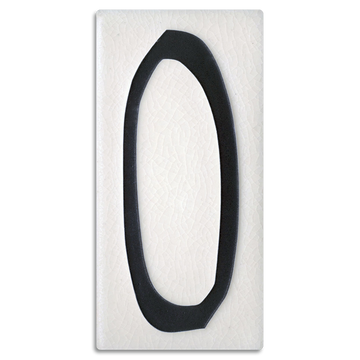 4x8 House Number (White) - 0