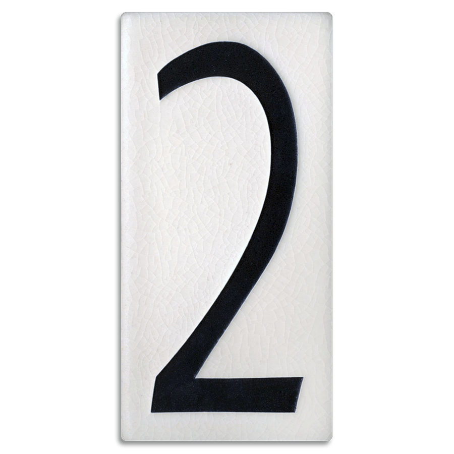 4x8 House Number (White) - 2