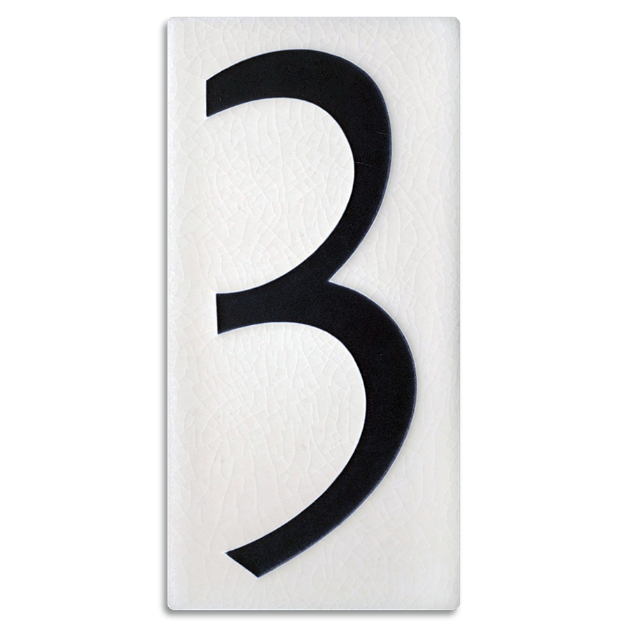 4x8 House Number (White) - 3