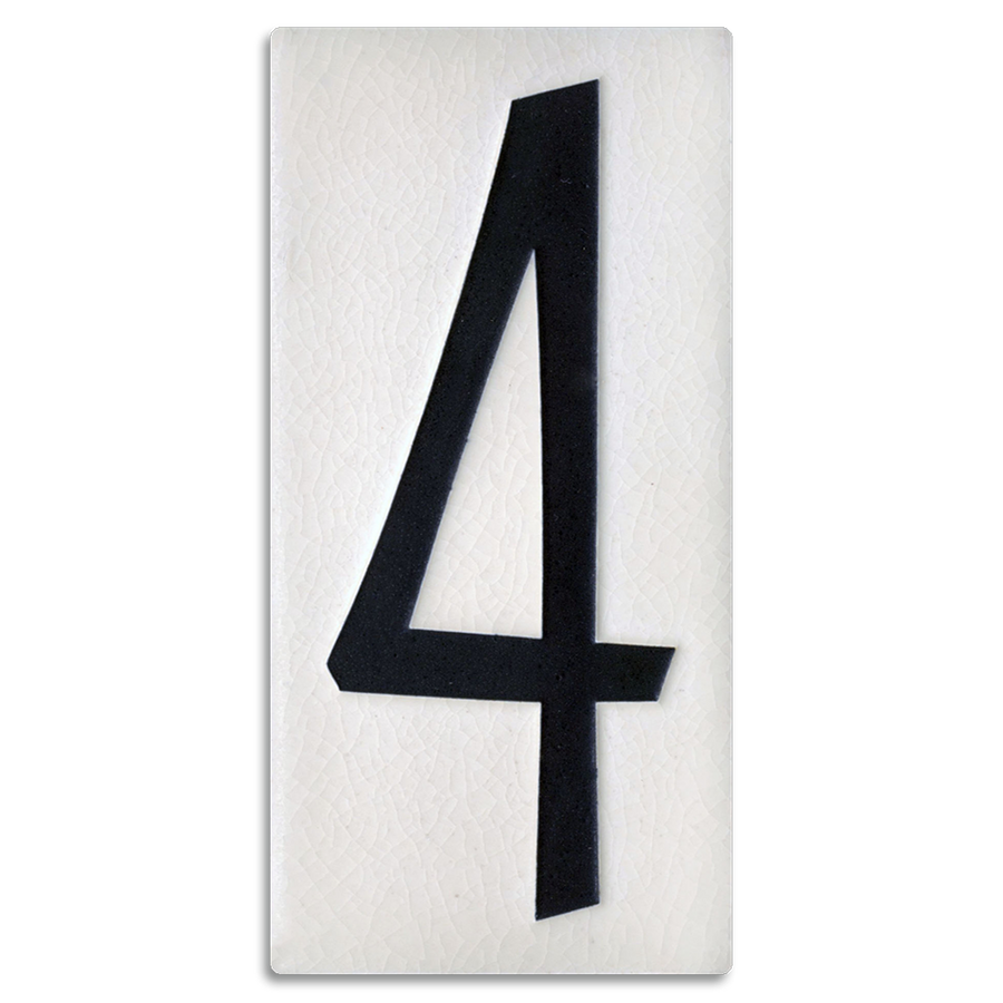 4x8 House Number (White) - 4