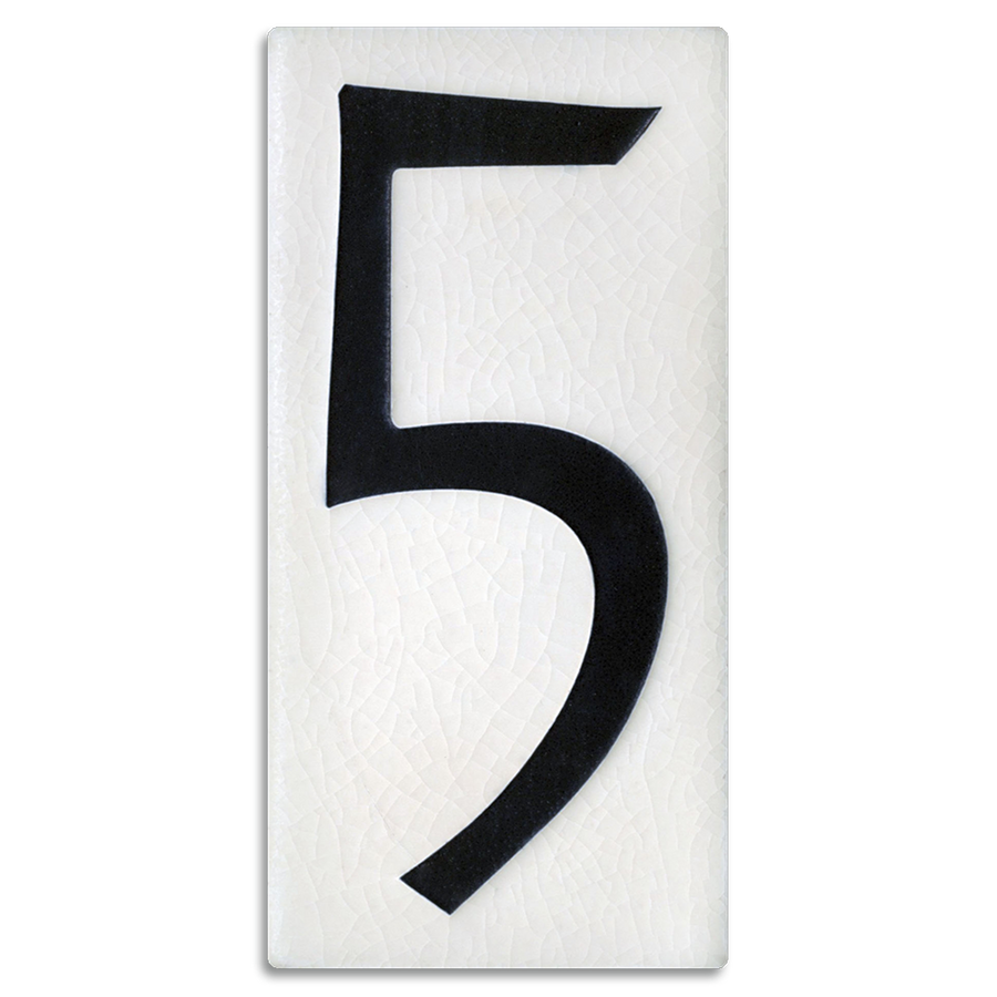 4x8 House Number (White) - 5