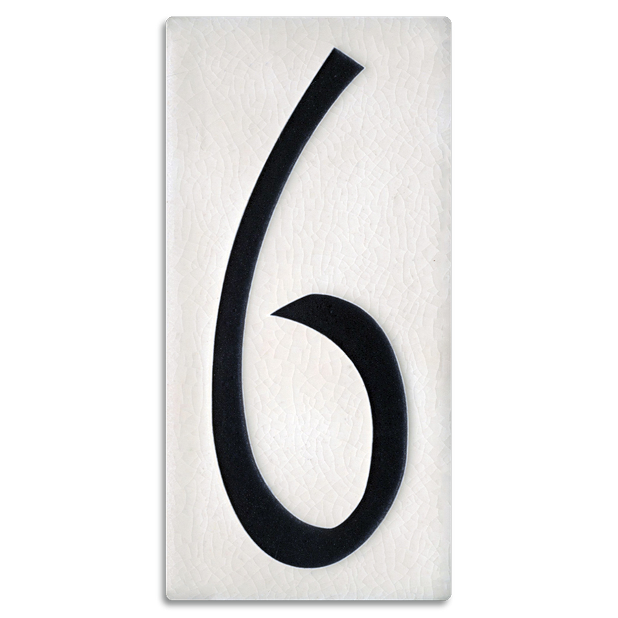 4x8 House Number (White) - 6