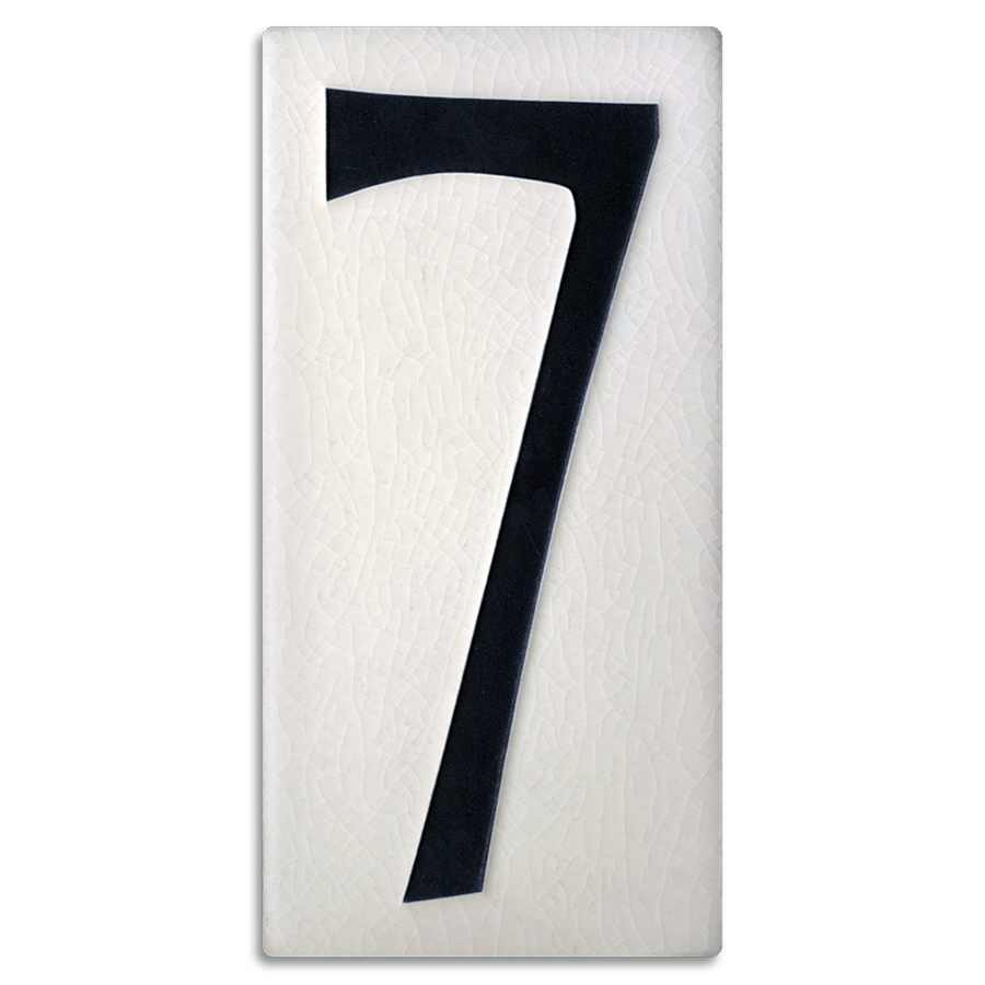4x8 House Number (White) - 7