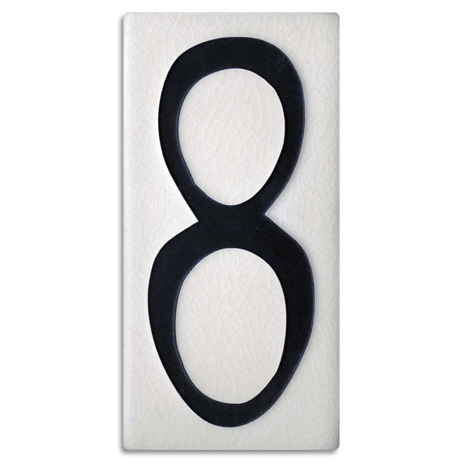 4x8 House Number (White) - 8