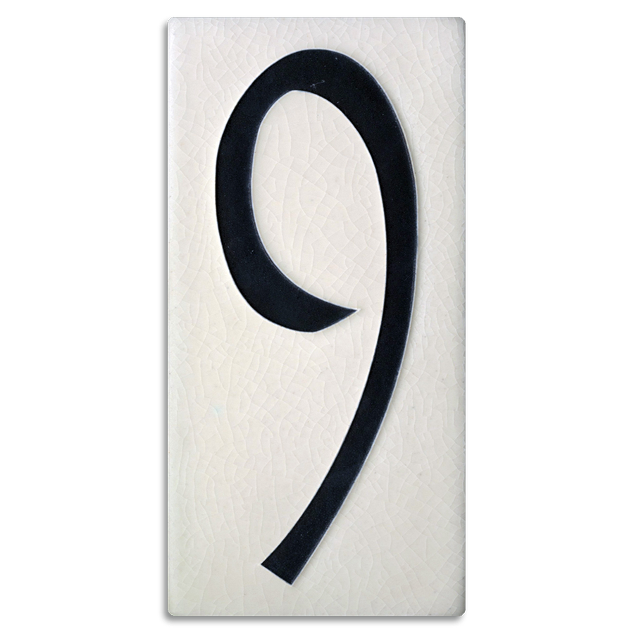 4x8 House Number (White) - 9