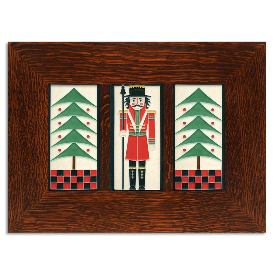 4x8 Holiday Framed Tile Set (Peppermint)