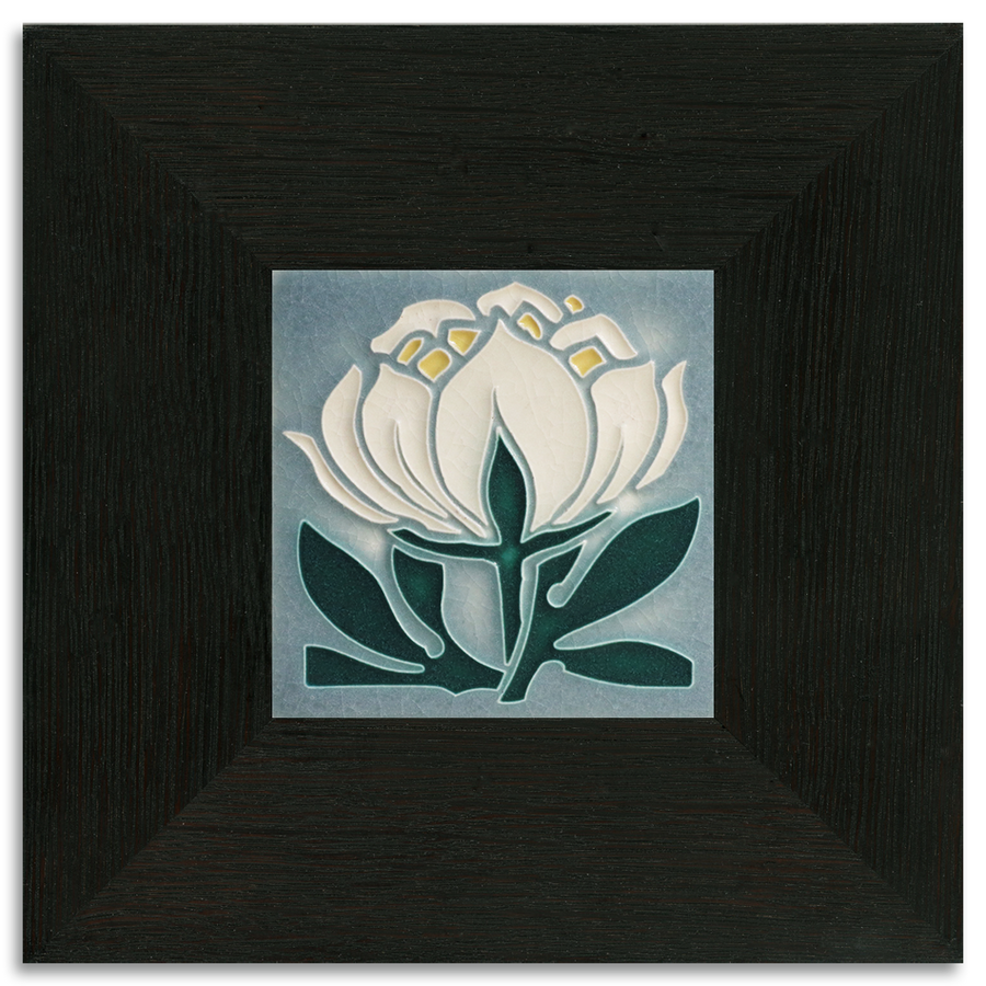 Tile in 2-inch Oak Park Frame - Ebony