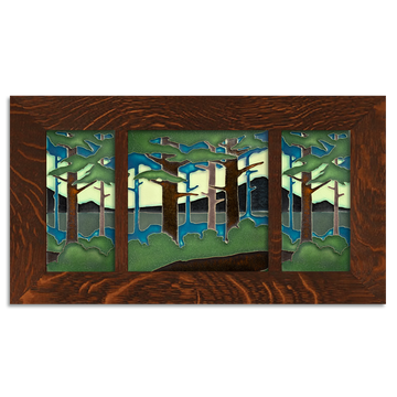 4x8 and 8x8 Pine Landscape Craftsman Oak Park Framed Tile Set