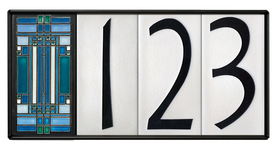 4x8 House Number Frame (Holds Four Tiles, Sold Separately)