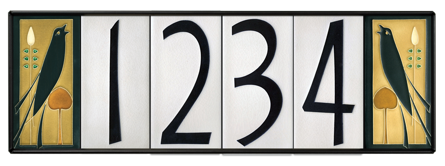 4x8 house numbers 0 9 white