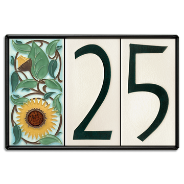 4x8 House Number Frame (Holds Three Tiles)