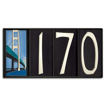 4x8 House Number Frame (Holds Four Tiles