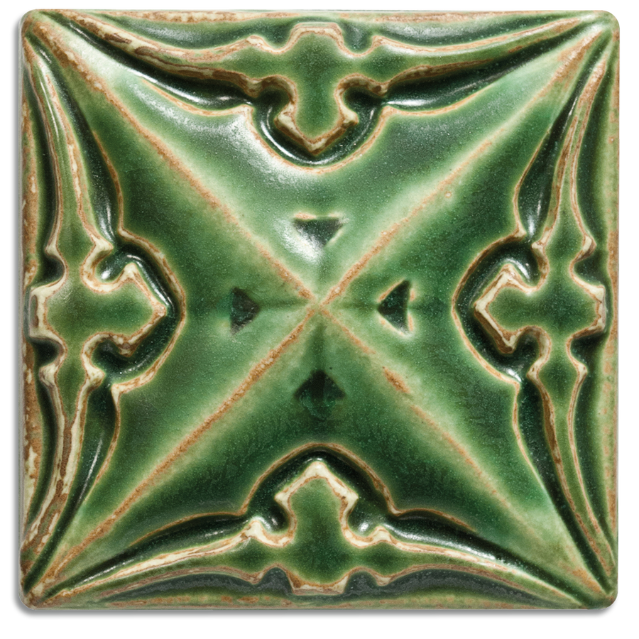 5046 | Lime on 4x4 Sullivan Relief Tile