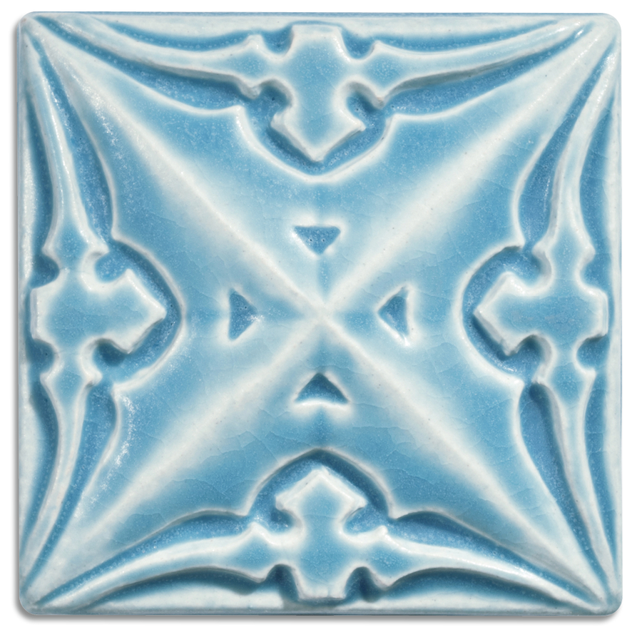 5061 | Pale Blue on 4x4 Sullivan Relief Tile