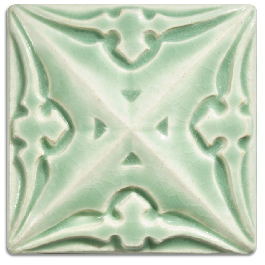 5251 | Pale Green on 4x4 Sullivan Relief Tile