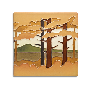 6x6 Pine Landscape, Mountain, Autumn