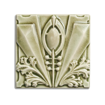 6x6 Archer is available in any of our standard glazes. Shown here in 2010 Celadon