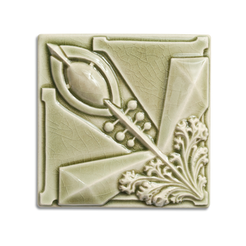 6x6 Archer Corner is available in any of our standard glazes. Shown here in 2010 Celadon.